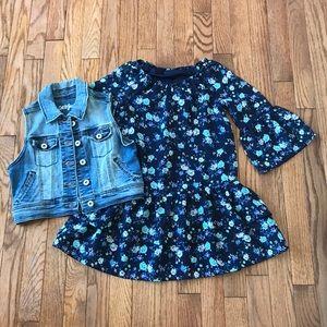 New! Children's Place girls Blue Dress 5/6